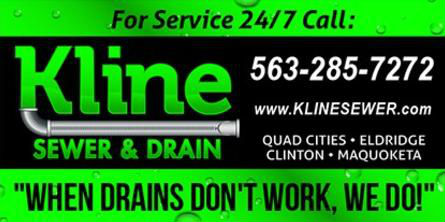 Kline Sewer information banner